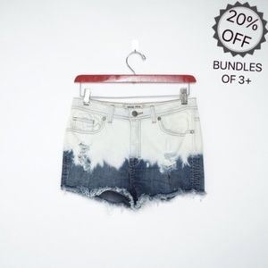Sneak Peek LA | Bleached Denim Ombré Shorts | M